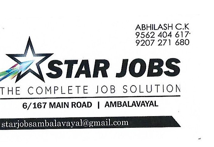 STAR JOBS CONSULTANCY Job Openings