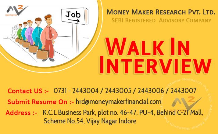 Money Maker Research Pvt. Ltd. Job Openings
